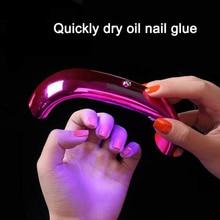 9W USB Rainbow Bridge Dual Light Source Manicure Phototherapy Machine UV Gel Polishing Nail Dryer Tool