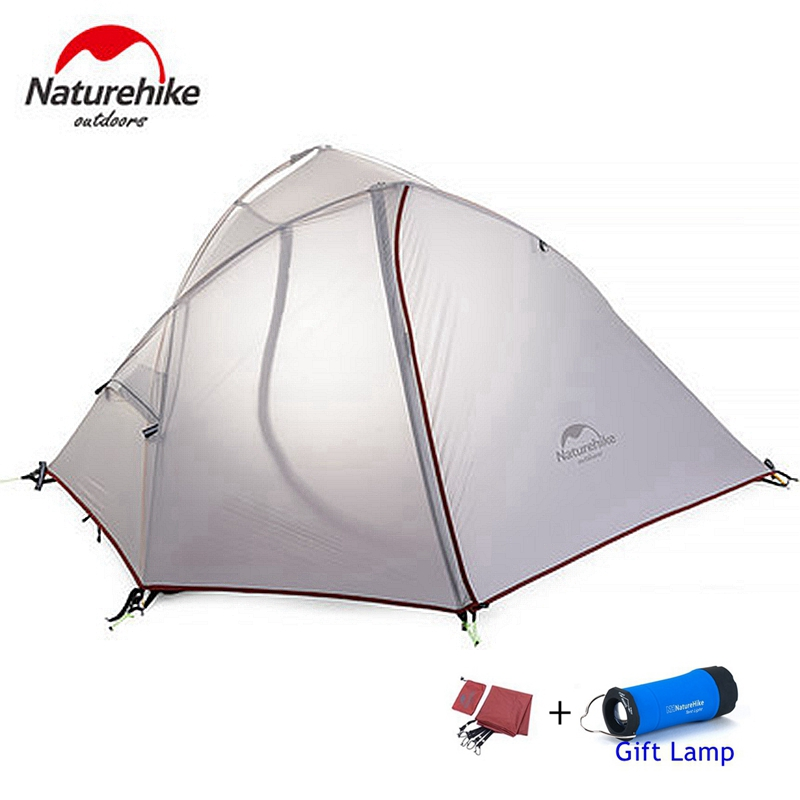 DHL UPS livraison gratuite naturehike tente 1-2 personne ultra-léger randonnée camping tente bleu gris