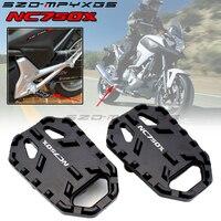 Motorcycle CNC Black Footrest foot pegs For HONDA NC 700/750 NC700X NX700S NC750X NC750S 2012 2013 2014 2015 2016 2017 2018
