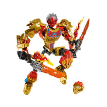 цена на Biochemical Warrior Bioniclemask Of Light Tahu Fire Building Block Compatible With Legoings Bionicle 71308 Toys