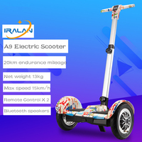 IRALAN A9 10inch Smart Self Balancing Electric Scooter Two Wheel Hoverboard With Handle Bluetooth Speaker Samsung