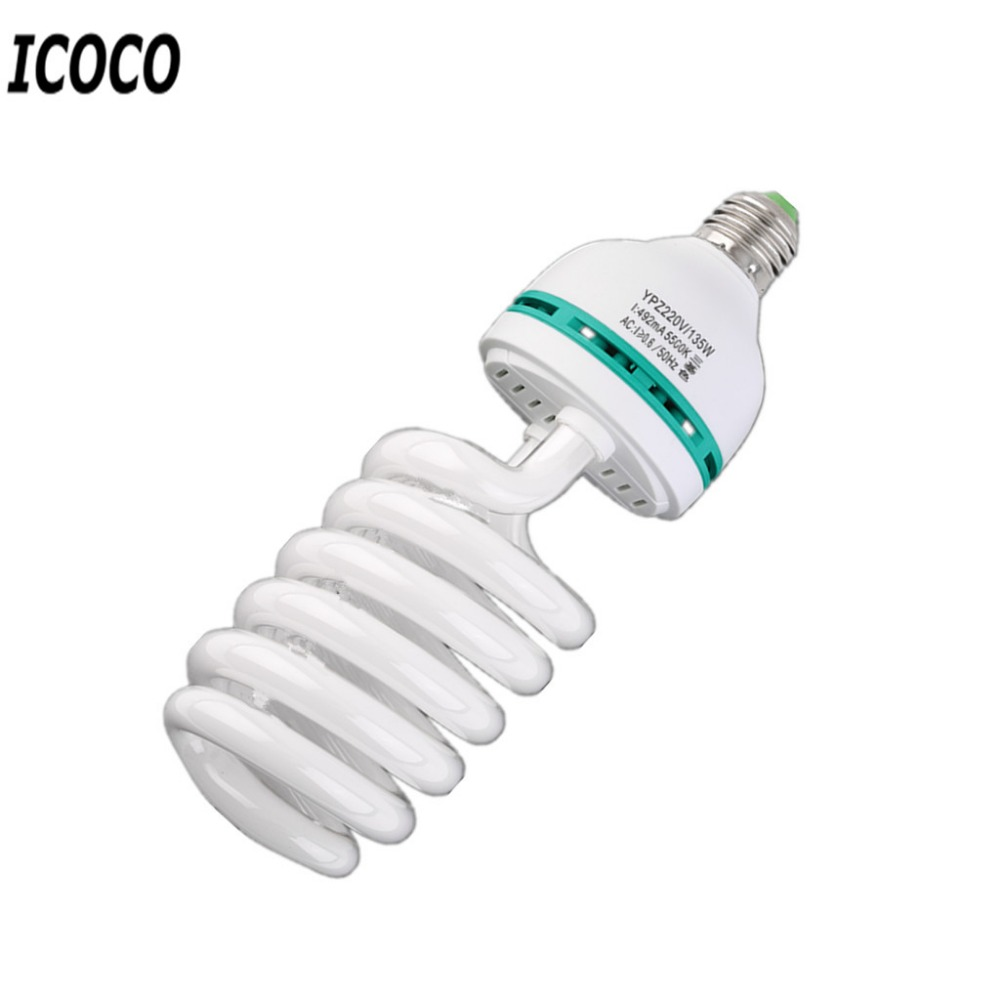ICOCO New Photographic Lighting E27 220V 5500K 135W Photo Studio Bulb Video Light Photography Daylight Lamp For Digital Camera