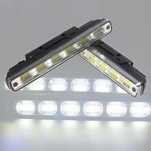 2Pcs DRL LED Car Daytime Running Lights COB LEDs DC 12V Auto Fog Light Driving Lamps Car-syling Super Bright