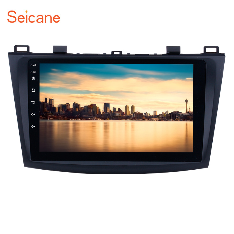 Seicane Navigation <font><b>Radio</b></font> Multimedia Player Android 8.1/9.0 Car GPS for <font><b>MAZDA</b></font> <font><b>3</b></font> <font><b>2009</b></font> 2010 -2012 9 inch Quad-core Bluetooth wifi image