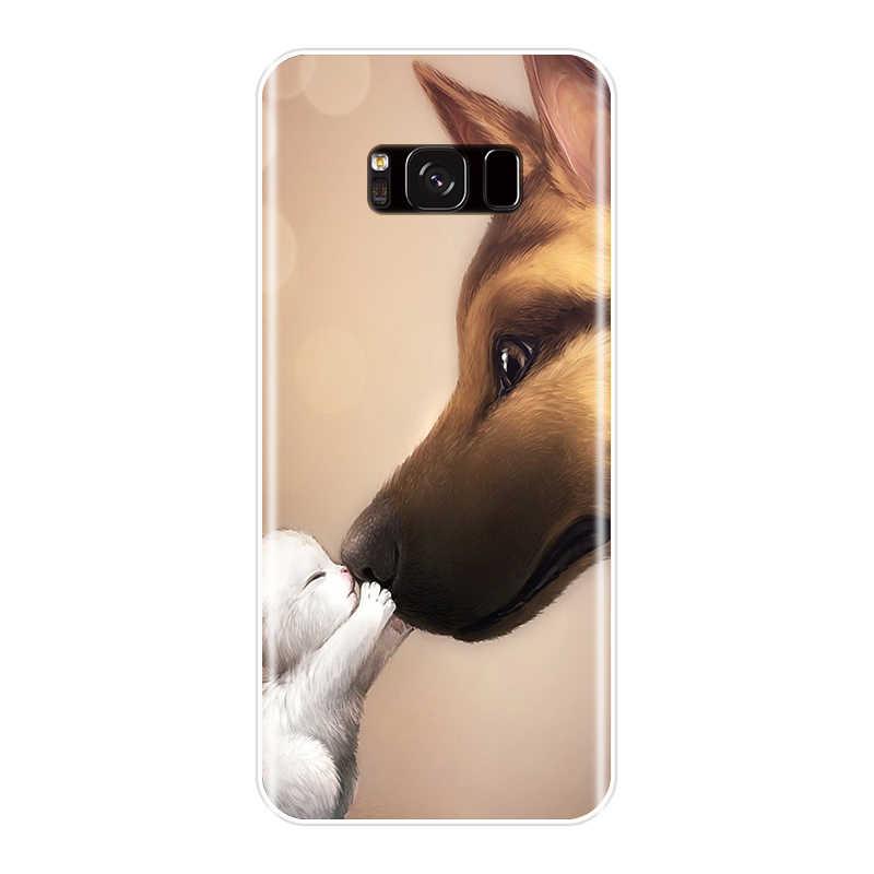 Tpu バックカバー三星銀河注 9 8 5 4 ファッションブームソフトサムスンギャラクシー S8 S9 プラス s3 S5 S6 S7 エッジ電話ケース
