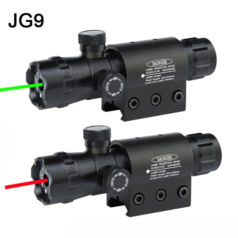 Tactical Red Green dot Punctul de vedere pentru laser cu vizor, inclusiv 11mm și 20mm, cu comutator tactic # JG9 pentru vânătoare