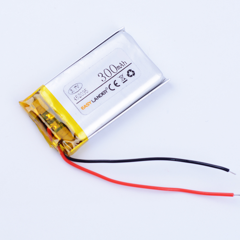 452035 3.7 В 300 мАч Перезаряжаемые литий-полимерный литий-ионный Батарея для MP3 MP4 DVR Smart Watch маленькие игрушки Запись ручка GPS динамик