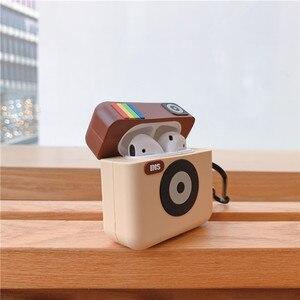 Image 4 - 3D mignon Instagram INS caméra casque housses pour Apple sans fil Bluetooth casque Airpods 1 2 Silicone antichoc couverture découteurs