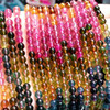 hot sale natural gemstone loose beads chain MEDBOO 4A colorful tourmaline beads chain for DIY bracelet and necklace fine jewelry