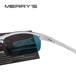 Image 4 - MERRYS Men Polarized Sunglasses Aviation Aluminum Magnesium Sun Glasses For Driving Fishing Rectangle Rimless Shades S8277