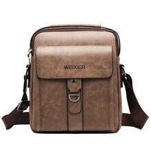 Weixier Messenger Bags Pu Leather Men Designer New Fashion S