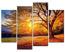 5 Panels Framed Beautiful tree Painting Canvas Wall Art Picture Home Decoration Living Room Print Modern Painting/10Y-5