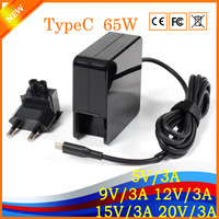 Evrensel Dizüstü Adaptörü Için ASUS Zenbook3 UX390 ThinkPad X1 Yoga5 yanlısı Hızlı Şarj AB Fiş USB TypeC 5 V/3A 9 V/3A 20 V/3A HK04