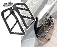 Pair for Motorcycle Rear Footpeg Footrest Foot Peg Pedal for 2017 2018 Honda X Adv X ADV 750 Black Steel Set