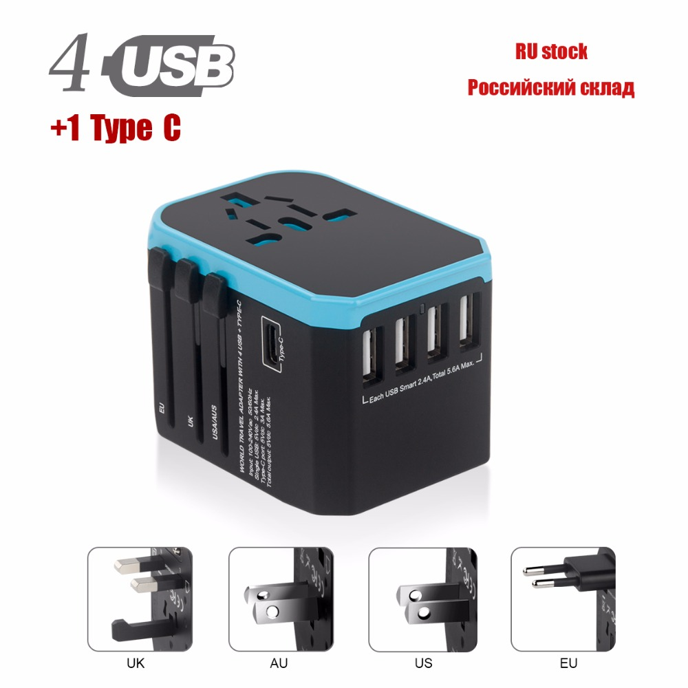 Hyleton travel adapter Universal Power Adapter Charger travel Adapter wall Electric Plugs Sockets Converter for mobile phones ...