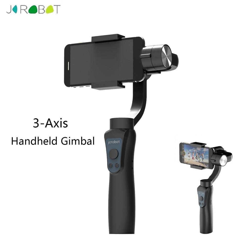 Outdoor Camping Hiking 3-Axis Handheld Mobile Phone Gimbal Stabilizer for iphone Android Gopro