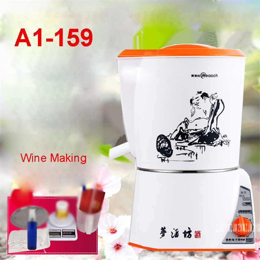 A1-159 220V /50hz Household small automatic liquor wine 35min/2L wine steamer distiller pure dew distillation equipment 1200W
