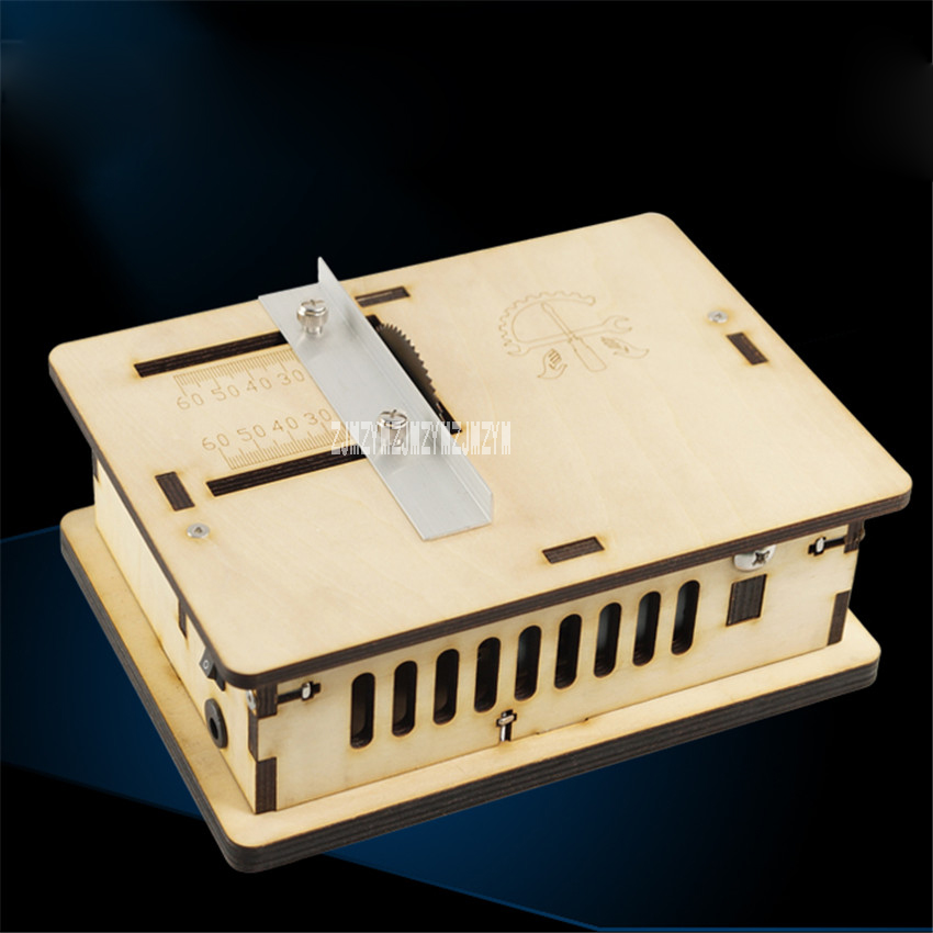 Miniature Handmade Table Saw The Third Generation Of  Woodworking Mini-chainsaw Cutting Machine Mini Table Saws 24V 5000RPM 60T fitsain mini table saw for motor shaft 8mm saw blade 16mm 20mm belt spindle cutting saws machine pulley bracket bearing chainsaw
