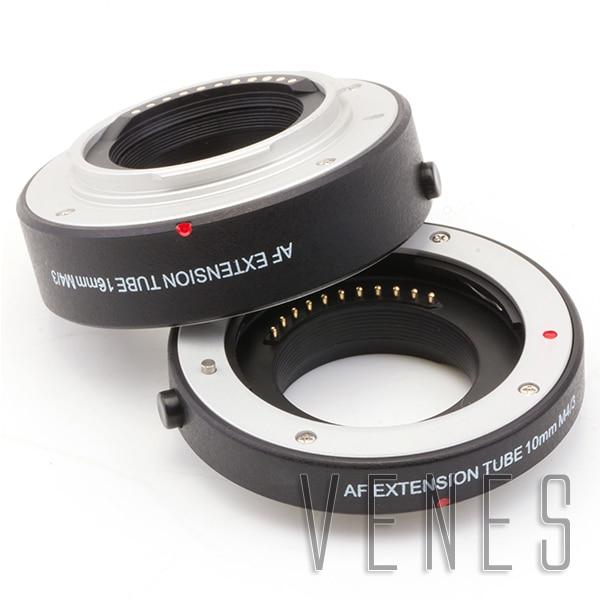 Venes Suit for Micro 4/3 Camera Autofocus Macro tube GX9 GX85 GX8 GX85 GX7 GX1 G85 G9 G7 G5 G3 G2 G1 G10 GF10 GF8 GF7 GF6 GF5 rear lens cap cover camera front body cap for panasonic olympus micro 4 3 m4 3 m43 gh3 gh4 g5 g6 g7 g9 gx1 gx7 gx8 gx80 gx85