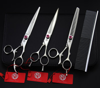 7.5Inch JP440C 360 Degree Rotation Pet Grooming Scissors Fur Clippers Dog Shears 3Pcs