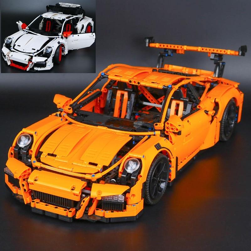 IN STOCK XYTMC 20001 20001B 2704 Pcs technic series Race Car LEPIN Model Building Kits Blocks Bricks 42056 Boys Gift Toys цена