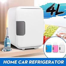 Mini Fridge Electric Cooler & Warmer (4 Liter/6 Can) Home Car USE Refrigerators Low Noise AC/DC Portable Compact