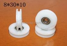 Bring U groove plastic bags nylon bearing 608 zz embedded inside diameter 8  * 30 10 H pulley