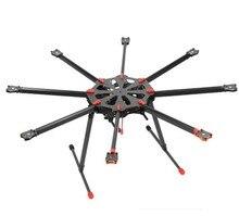 Таро X8 все углеродного волокна TL8X000 8 оси октокоптер Мультикоптер с электрическим выдвижной посадочные полозковые шасси и в комплекте со складывающейся рукояткой для FPV Photography