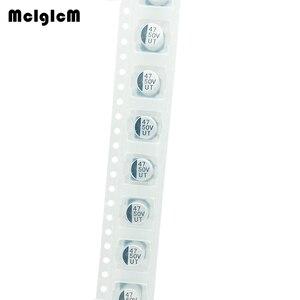 Image 2 - MCIGICM 1000pcs 47UF 50V 6.3mm*7.7mm SMD electrolytic capacitor