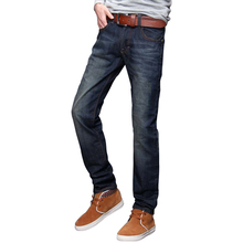 2016 New Design Loose Version Straight Good Quality Soft Cotton Scratch Men's Jeans All Match All Season Suitable Jeans For Men