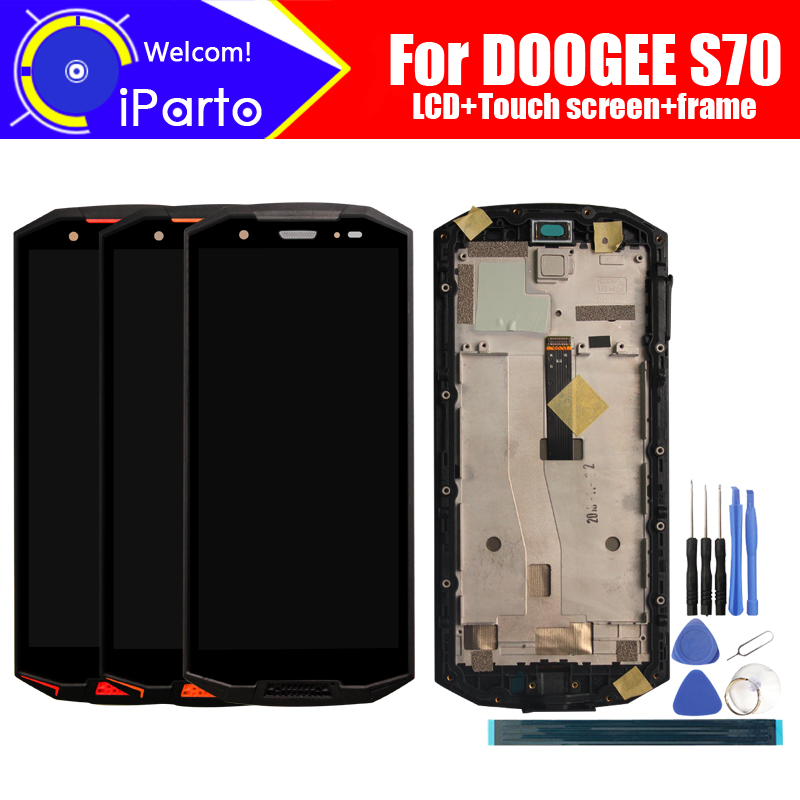 5.99 inch DOOGEE S70 LCD Display + Touch Screen Digitizer + Frame Assembly 100% Original LCD + Touch Digitizer for S70+ Tools5.99 inch DOOGEE S70 LCD Display + Touch Screen Digitizer + Frame Assembly 100% Original LCD + Touch Digitizer for S70+ Tools