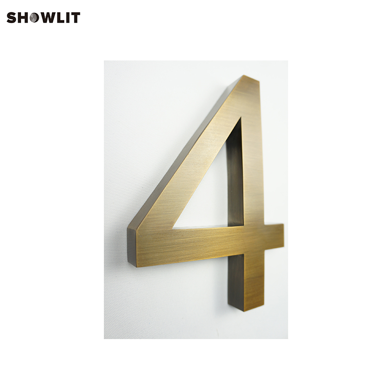 Brushed Antique Bronze Metal 3D Mailbox Numbers And Letters no lighting black mailbox numbers and letters