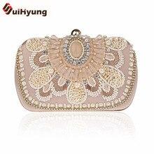 Neue Mode-Design Frauen Hangbags Vintage Perlen Hochzeit Kleine Handtaschen Damen Partei Abendtaschen Handtasche Weibliche Diamant Tasche