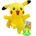 Hot Sale 20cm Pikachu Plush Toy Cute Anime Stuffed Toys Kawaii Children's Gift Toy Kids Cartoon Smile Face Pikachu Plush Doll