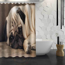 Waterproof Shower Curtain with Dog Prints