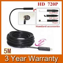 5M Mini USB HD 720P Endoscope Borescope Snake 10mm Lens 4 LED IP67 Waterproof Inspection Camera Borescope