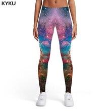 KYKU Brand Galaxy Leggings Women Space Sexy Nebula Spandex Graffiti Printed pants Colorful 3d Print Womens Pants