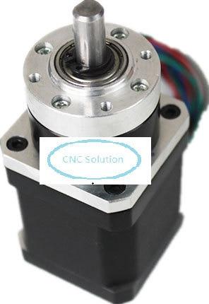 ФОТО Ratio 10:1 Nema17 Planetary Gear Stepper Motor 1.3A Motor Body L48mm Max 5.2NM 4 Leads 2PH Stepper Motor for CNC 3D Printer