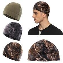 Уличная флисовая шапка для мужчин и женщин, кепка для походов, теплая ветрозащитная осенне-зимние шапки для рыбалки, велоспорта, охоты, военная тактическая Кепка