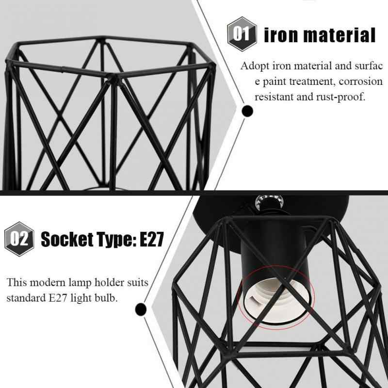 1 Pcs E27 Socket Modern Wall Lamp Holder Sconce Unique Geometric Shape Lamp Base House Decorative Bulb Holder