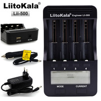 liitokala Lii 500 multi function 18650 Charger 26650 .18350,17335 Charger,Test,Usb 5V output, large LCD display.with car charger