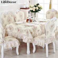 Фотография Elegant Table Cloth Linen Tablecloths Chair Cover European Minimalist Modern Furniture Fabric High Quality Lace Tablecloth Decor