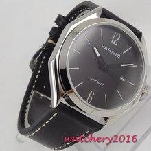 цена 43mm PARNIS Top Brand Luxury Sapphire Glass Date Solid Steel Case Date Luminous Hands Miyota 821A Movement men's Watch онлайн в 2017 году