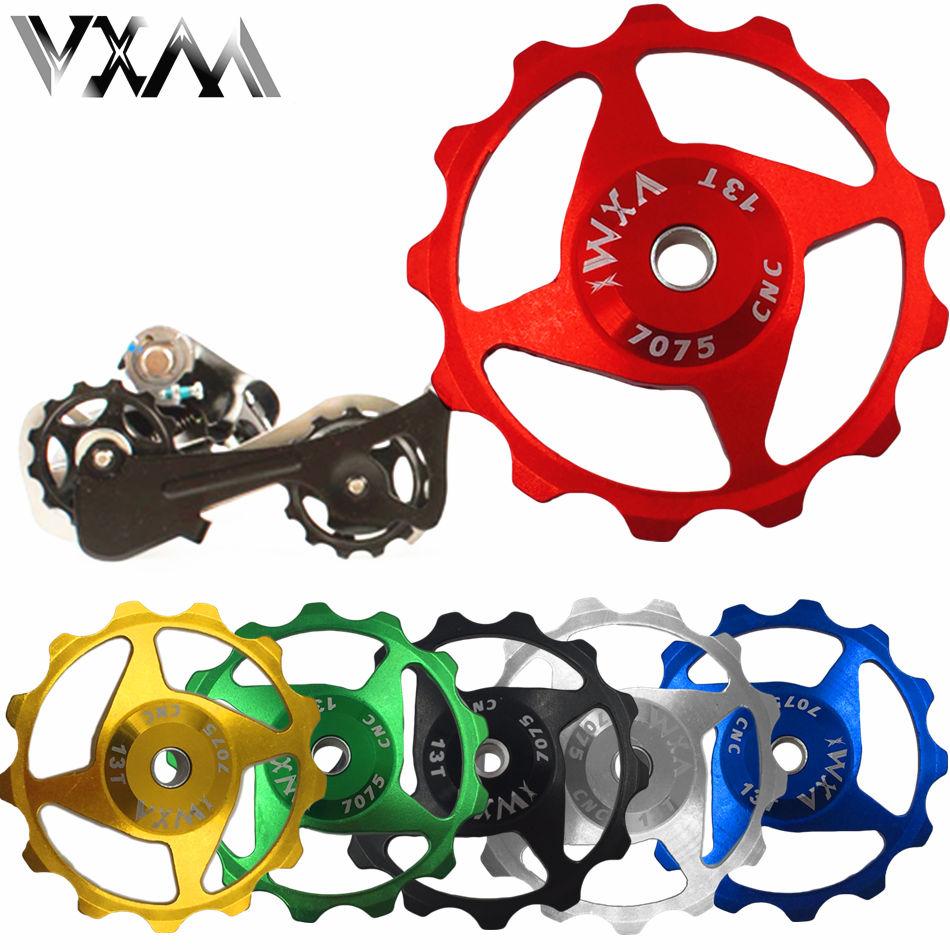 цена на VXM Bicycle Rear Derailleur Pulley 11T 13T MTB Road Bike Rear Derailleur Pulley Roller Idler Bearing Jockey Wheel Bicycle Parts