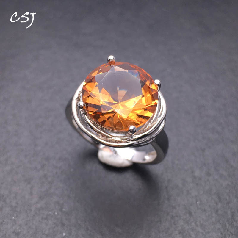 CSJ Created Diaspore Zultanite Ring 925 Sterling Silver Round12mm Fine Jewelry Women Gemstone Femm Lady Wedding Engagment Party