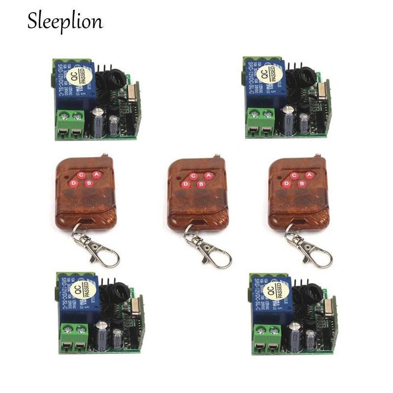Sleeplion DC 12V 10A 1CH wireless RF Remote Control Switch 3 Transmitter 4 font b Receiver