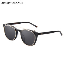 JIMMY ORANGE Polarized Steampunk Round Sunglasses Women Men UV400 Vintage Driver Sunglasses Ladies Optical Spectacles
