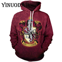 Fans Wear Gryffindor 3D Printed Hoodie with Pocket Ravenclaw Gryffindor for Adult Unisex Sweatshirt Costume