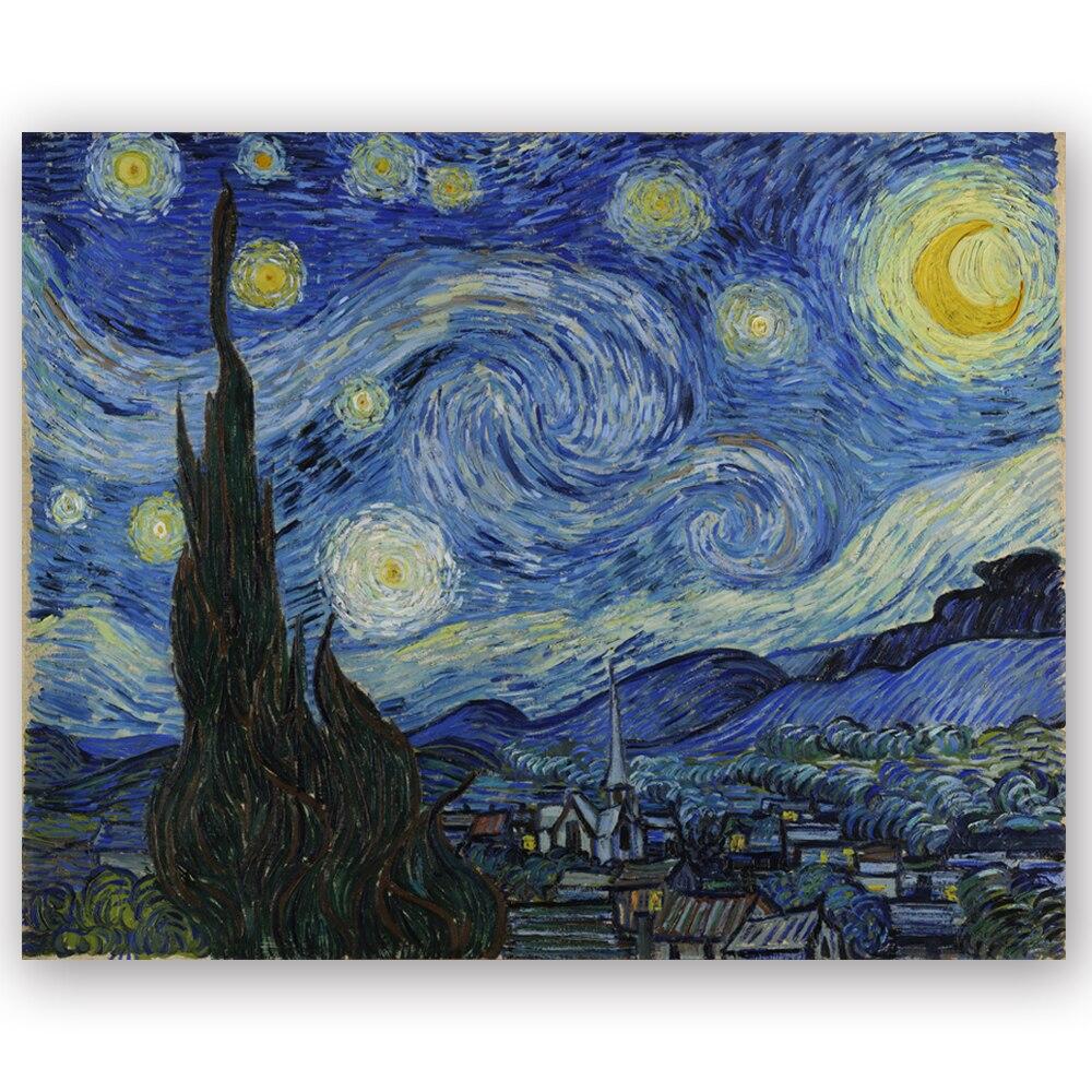 Toile D Art Peinture Celebre Du Monde Avec Copie De Van Gogh Des Imprimes De Toile Pour Decoration Interieure Haute Definition Lz139 Aliexpress