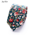 fashion 6cm cotton party narrow tie Floral print  Mens Ties Yellow Paisley Jacquard Tie  Men's Business Gift necktie For Men